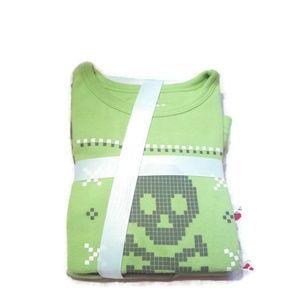Kids Long Sleeve Green Skull PJ Set